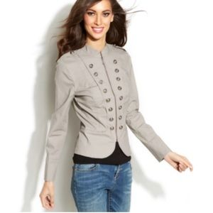 INC International Concepts Buttons Military Jacket